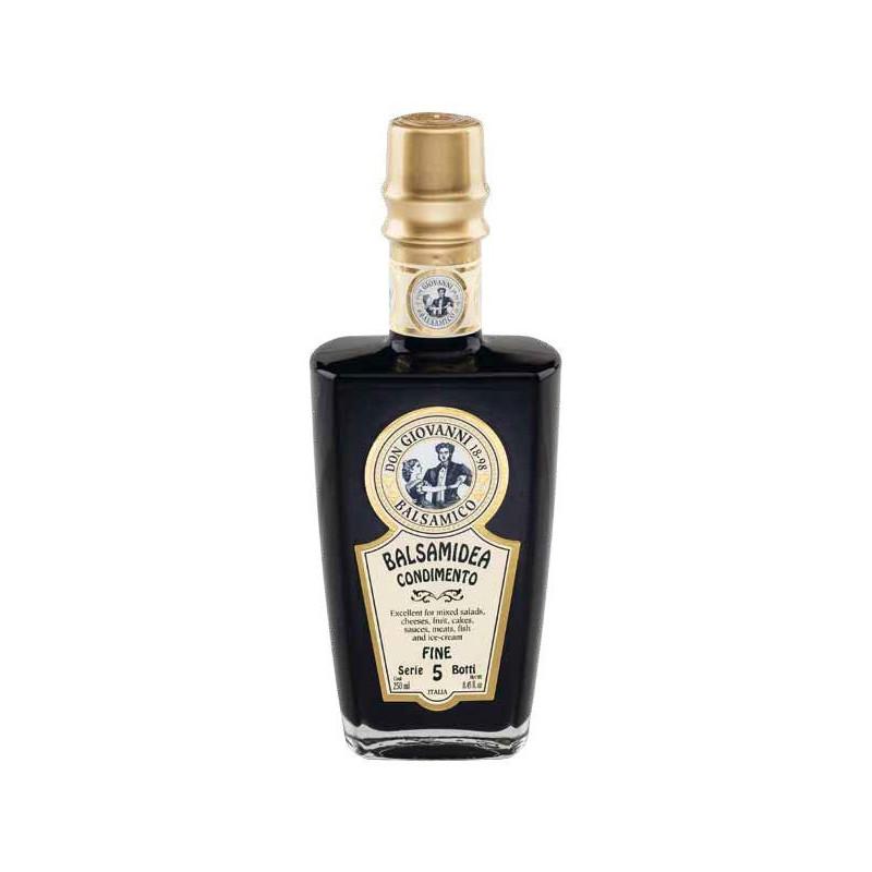 """Condimento Balsamico """"Serie 5 Botti"""" FINE -250ml Acetaia Don Giovanni Condimenti Balsamico"""